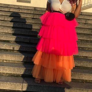 Pink and Orange skirt !!